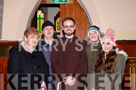 Br Denis Ahern Listowel with his family  l-r: Mary, Eamon, Denis, Sean and Mary Ahern at the Killarney Friary 150th anniversary celebration mass on Friday