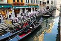 Canal scene in Venice, Italy