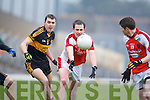 Michael Moloney Dr. Crokes in action against Donal O'Sullivan Rathmore in the Senior Club Championship Final at Fitzgerald Stadium on Saturday Night.