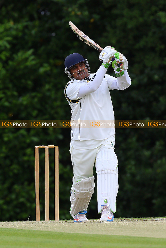 A Ali in batting action for Shenfield during Shenfield CC vs Ilford CC, Shepherd Neame Essex League Cricket at Chelmsford Road on 2nd July 2016