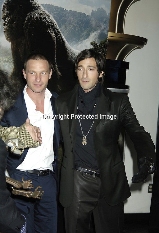 "Thomas Kretschmann and Adrien Brody ..at The World Premier of Universal Pictures "" King Kong"" ..on December 5, 2005 at The Loews E-Walk. ..Photo by Robin Platzer, Twin Images"