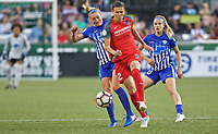 Portland, OR - Saturday May 27, 2017: Christine Sinclair, Megan Oyster during a regular season National Women's Soccer League (NWSL) match between the Portland Thorns FC and the Boston Breakers at Providence Park.