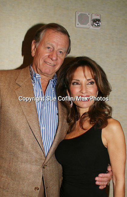 All My Children's Susan Lucci and husband Helmut attend the after party of ABC and SOAPnet's Salutes to Broadway Cares/Equity Fights Aids on March 9, 2009 at the New York Marriott Marquis, New York, NY.  (Photo by Sue Coflin/Max Photos)
