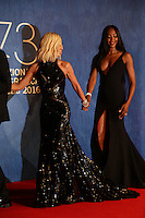 Donatella Versace and Naomi Campbell attend the premiere of 'Franca: Chaos And Creation' during the 73rd Venice Film Festival at Sala Giardino on September 2, 2016 in Venice, Italy.<br /> CAP/GOL<br /> &copy;GOL/Capital Pictures /MediaPunch ***NORTH AND SOUTH AMERICAS ONLY***