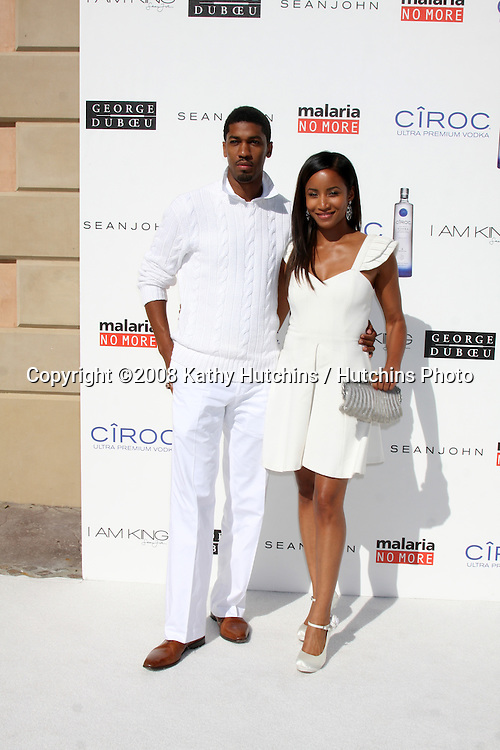 "Farnsworth Bentley & guest arriving at the White Party hosted by Sean ""Diddy"" Combs & Ashton Kutcher in Beverly Hills, CA on July 4, 2009 .©2008 Kathy Hutchins / Hutchins Photo.."