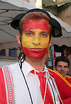 19 June 2006: A Spain fan dressed as a matador. Spain played Tunisia at the Gottlieb-Daimler Stadion in Stuttgart, Germany in match 31, a Group H first round game, of the 2006 FIFA World Cup.