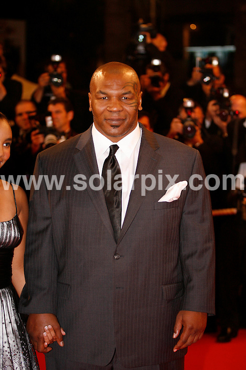 **ALL ROUND PICTURES FROM SOLARPIX.COM**.**SYNDICATION RIGHTS FOR UK, SPAIN, PORTUGAL, AUSTRALIA, S.AFRICA & DUBAI (U.A.E) ONLY**.The 2008 Cannes Film Festival the film premiere of Un Conte de Noel Premiere at the Palais de Festival in Cannes France..This pic:Mike Tyson.JOB REF:6430-PHZ/Pixplanete      DATE:16_05_08 .**MUST CREDIT SOLARPIX.COM OR DOUBLE FEE WILL BE CHARGED* *UNDER NO CIRCUMSTANCES IS THIS IMAGE TO BE REPRODUCED FOR ANY ONLINE EDITION WITHOUT PRIOR PERMISSION*