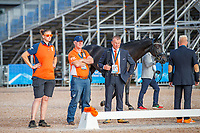 Team Netherlands during the Horse Inspection for Dressage. 2018 FEI World Equestrian Games Tryon. Tuesday 11 September. Copyright Photo: Libby Law Photography