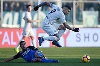 Ismael Bennacer of Empoli and Mauro Icardi of Internazionale compete for the ball during the Serie A 2018/2019 football match between Empoli and Internazionale at stadio Castellani, Empoli, December, 29, 2018 <br /> Foto Andrea Staccioli / Insidefoto