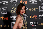 Nieves Alvarez attends to 33rd Goya Awards at Fibes - Conference and Exhibition  in Seville, Spain. February 02, 2019. (ALTERPHOTOS/A. Perez Meca)
