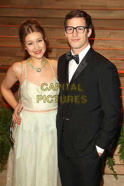 WEST HOLLYWOOD, CA - MARCH 2: Andy Samberg, Joanna Newsom attending the 2014 Vanity Fair Oscar Party in West Hollywood, California on March 2nd, 2014. <br /> CAP/ADM/UPA<br /> &copy; UPA/AdMedia/Capital Pictures
