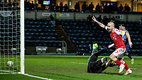 Fleetwood Town's Paddy Madden scoring his side's first goal <br /> <br /> Photographer Andrew Kearns/CameraSport<br /> <br /> The EFL Sky Bet League One - Wycombe Wanderers v Fleetwood Town - Tuesday 11th February 2020 - Adams Park - Wycombe<br /> <br /> World Copyright © 2020 CameraSport. All rights reserved. 43 Linden Ave. Countesthorpe. Leicester. England. LE8 5PG - Tel: +44 (0) 116 277 4147 - admin@camerasport.com - www.camerasport.com