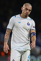 Maicon FC Porto looks dejected at the final whistle during the UEFA Champions League group match between Chelsea and FC Porto at Stamford Bridge, London, England on 9 December 2015. Photo by David Horn / PRiME