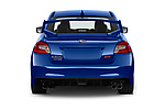 Straight rear view of a 2018 Subaru WRX STI Base 4 Door Sedan stock images