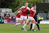 Emma Mitchell of Arsenal Women celebrates scoring the first goal during Arsenal Women vs Manchester City Women, FA Women's Super League Football at Meadow Park on 11th May 2019