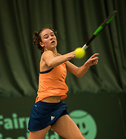 The Hague, The Netherlands, March 17, 2017,  De Rhijenhof, NOJK 14/18 years, Anouk Koevermans (NED)<br /> Photo: Tennisimages/Henk Koster