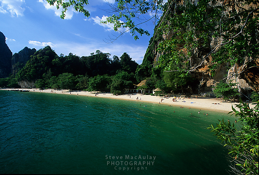 Overview of Phra Nang Beach, Railay Rei Lei, Thailand