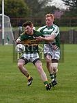 O'Raghallaigh's Andrew Rogan Cooley Kickhams Conor Kenny. Photo:Colin Bell/pressphotos.ie