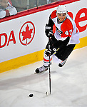 18 December 2008: Philadelphia Flyers' defenseman Luca Sbisa from Italy controls the puck against the Montreal Canadiens in the first period at the Bell Centre in Montreal, Quebec, Canada. The Canadiens, trying to avoid a four-game slide, defeated the Flyers 5-2, thus ending Philadelphia's 5-game winning streak. ***** Editorial Sales Only ***** Mandatory Photo Credit: Ed Wolfstein Photo