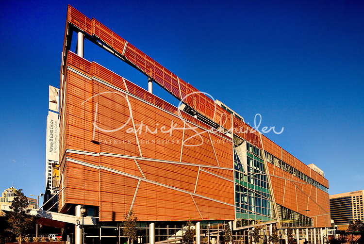 Exterior photography of the Harvey B. Gantt Center for African-American Arts + Culture in Charlotte, NC. Photographer has extensive collection of Charlotte images.