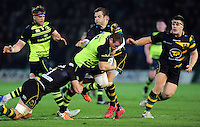 Sean Cronin of Leinster Rugby takes on the Northampton Saints defence. European Rugby Champions Cup match, between Northampton Saints and Leinster Rugby on December 9, 2016 at Franklin's Gardens in Northampton, England. Photo by: Patrick Khachfe / JMP