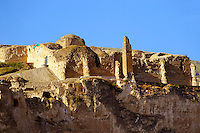 Remains of the Süleyman Mosque in the ancient citadel of Hasankeyf on the cliffs above the Tigris, Turkey 1
