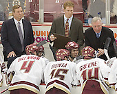 BC timeout instructions - The Boston College Eagles and University of New Hampshire earned a 3-3 tie on Thursday, March 2, 2006, on Senior Night at Kelley Rink at Conte Forum in Chestnut Hill, MA.  Boston College honored its three seniors, captain Peter Harrold and alternate captains Chris Collins and Stephen Gionta, before the game.