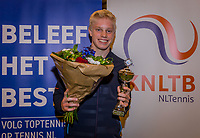 Wateringen, The Netherlands, December 8,  2019, De Rhijenhof , NOJK juniors 14 and18 years, Finals 14 years: Runner up boys 14 years Lars Wagenaar (NED) <br /> Photo: www.tennisimages.com/Henk Koster