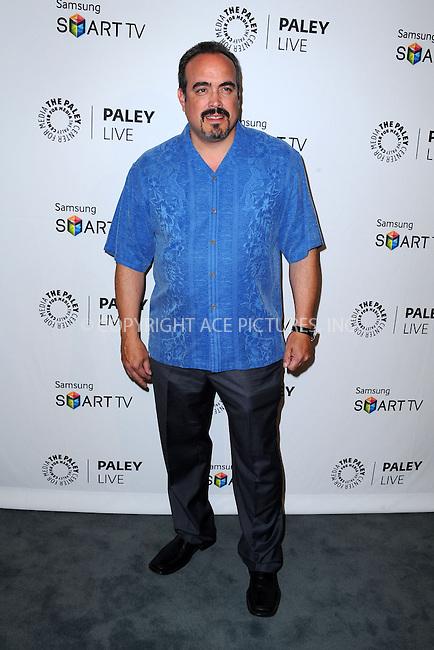 WWW.ACEPIXS.COM<br /> <br /> September 12 2013, LA<br /> <br /> David Zayas at PaleyFest Previews: 'Dexter' at The Paley Center for Media on September 12, 2013 in Beverly Hills, California.<br /> <br /> By Line: Peter West/ACE Pictures<br /> <br /> <br /> ACE Pictures, Inc.<br /> tel: 646 769 0430<br /> Email: info@acepixs.com<br /> www.acepixs.com
