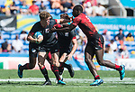 Wales V Kenya<br /> <br /> *This image must be credited to Ian Cook Sportingwales and can only be used in conjunction with this event only*<br /> <br /> 21st Commonwealth Games - Rugby 7's - Day 11 - 11\04\2018 - Robina Stadium - Gold Coast City - Australia