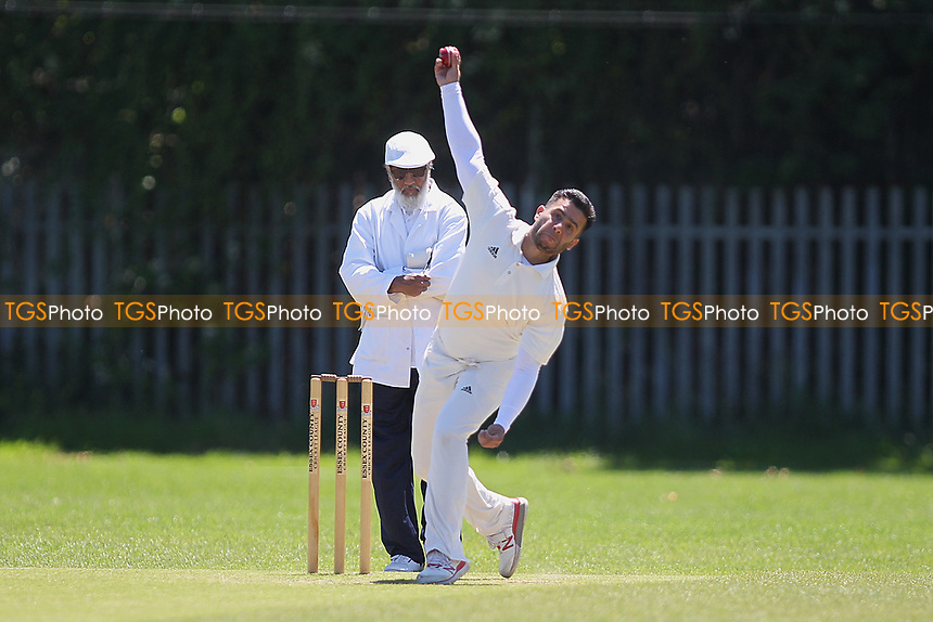 O Khan of Barking in bowling action during Newham CC vs Barking CC, Essex County League Cricket at Flanders Playing Fields on 10th June 2017