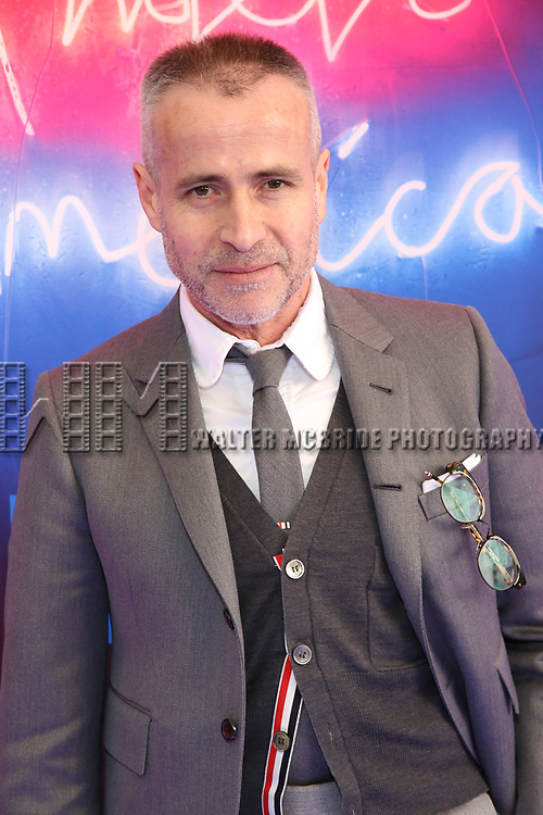 """Thom Browne attends the Broadway Opening Night Arrivals for """"Angels In America"""" - Part One and Part Two at the Neil Simon Theatre on March 25, 2018 in New York City."""