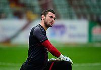 Lincoln City's Grant Smith during the pre-match warm-up<br /> <br /> Photographer Andrew Vaughan/CameraSport<br /> <br /> The EFL Sky Bet League One - Lincoln City v Sunderland - Saturday 5th October 2019 - Sincil Bank - Lincoln<br /> <br /> World Copyright © 2019 CameraSport. All rights reserved. 43 Linden Ave. Countesthorpe. Leicester. England. LE8 5PG - Tel: +44 (0) 116 277 4147 - admin@camerasport.com - www.camerasport.com