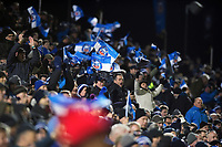 Bath Rugby supporters in the crowd celebrate a try. European Rugby Champions Cup match, between Bath Rugby and RC Toulon on December 16, 2017 at the Recreation Ground in Bath, England. Photo by: Patrick Khachfe / Onside Images