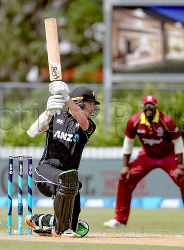 20th December, 2017, Whangarei, New Zealand;  New Zealand's George Worker. New Zealand Black Caps versus West Indies, first One Day International cricket, Cobham Oval, Whangarei, New Zealand. Wednesday, 20 December, 2017.
