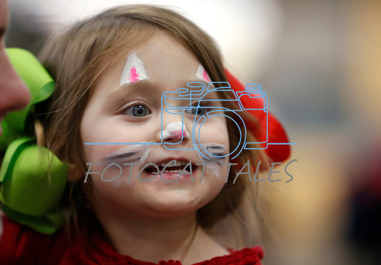 Emme Favaro, 3, enjoys the La Posada Celebration at Western Nevada College, in Carson City, Nev., on Saturday, Dec. 15, 2018. <br />