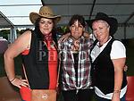 Vanessa Devine, Liz O'Brien and Gillian McGuffin at the NECRET Barn Dance in Cushinstown AC. Photo:Colin Bell/pressphotos.ie