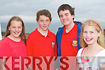 NJOYING: Having a great time at the Tralee Bay Sailing Club Regatta on Sunday l-r: Ciara and Killian Cussack, Austin Hynes from Cloherbrien and Kate Farrell, Oakpark.   Copyright Kerry's Eye 2008