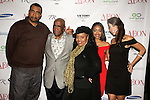 John Blassingame (2nd from left), Publisher of Hype Hair, Black Woman, and Today's Black Men, poses with guest at the Aeon Magazine Launch Party, at the Samsung Experience in the Time Warner Center,  November 15, 2011.