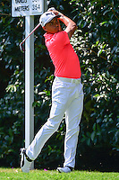 Rickie Fowler (USA) watches his tee shot on 2 during round 1 of the World Golf Championships, Mexico, Club De Golf Chapultepec, Mexico City, Mexico. 3/2/2017.<br /> Picture: Golffile | Ken Murray<br /> <br /> <br /> All photo usage must carry mandatory copyright credit (&copy; Golffile | Ken Murray)