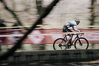 Mathieu van der Poel (NED/Beobank-Corendon) in his first outing as European Champion (and leading the way again...)<br /> <br /> Elite Men's race<br /> Superprestige Gavere / Belgium 2017