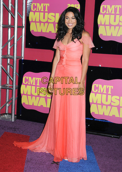 Jordin Sparks.2012 CMT Music Awards held at Bridgestone Arena, Nashville, Tennessee, USA..June 6th, 2012.full length pink dress sheer.CAP/ADM/LF.©Laura Farr/AdMedia/Capital Pictures.