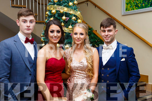 Caoilte Curneen, Caitlin Catwell, Kasia Bella and Cillian Rahilly, attending the Mercy Mounthawk debs in the Ballyroe Heights Hotel on Thursday night last.