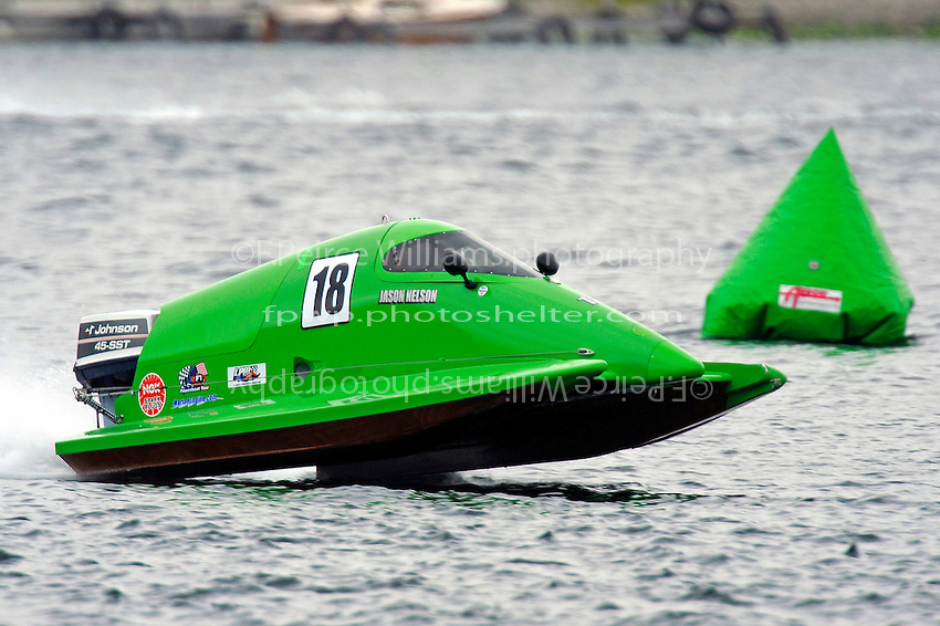 Jason Nelson, (#18), hmmmmmmmmm…same color as the buoys...  (SST-45 class)