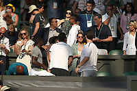 LONDON, ENGLAND - JULY 06: Olivia Munn attend day five of the Wimbledon Tennis Championships at the The All England Lawn Tennis Club on July 6, 2018 in London, England<br /> CAP/MPI122<br /> &copy;MPI122/Capital Pictures