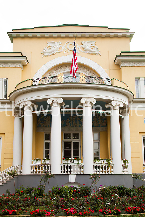 RUSSIA, Moscow. The Spaso House, the residence of the US Ambassador in Moscow.
