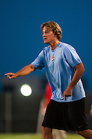 Sky Blue FC assistant coach Erwin Van Bennekom. Sky Blue FC defeated the Washington Spirit 1-0 during a National Women's Soccer League (NWSL) match at Yurcak Field in Piscataway, NJ, on July 6, 2013.