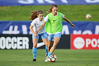 Piscataway, NJ - Saturday May 27, 2017: Pre-game activities before a regular season National Women's Soccer League (NWSL) match between Sky Blue FC and the Orlando Pride at Yurcak Field.  Sky Blue FC defeated the Orlando Pride, 2-1.