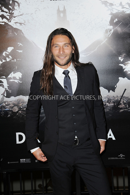WWW.ACEPIXS.COM<br /> October 6, 2014 New York City<br /> <br /> Zach McGowan attending the 'Dracula Untold' New York Premiere at AMC Loews 34th Street Theater on October 6, 2014 in New York City.<br /> <br /> <br /> By Line: Kristin Callahan/ACE Pictures<br /> ACE Pictures, Inc.<br /> tel: 646 769 0430<br /> Email: info@acepixs.com<br /> www.acepixs.com