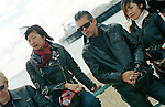 Rocker Chick Hiroko and her rocker friends of on Brighton's famous Madeira Drive.<br />